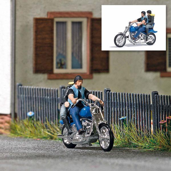 Action Set: US Motorrad mit Bikerpärchen