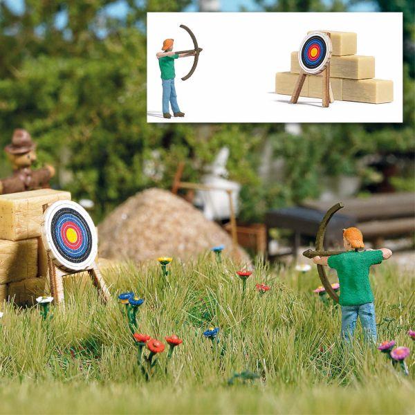 Action Set: Bogenschütze mit Zielscheibe