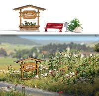 Ortseingangsschild aus Holz (Fertigmodell)