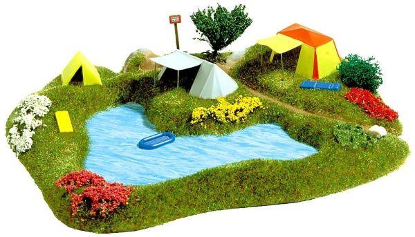 Badesee mit Campingplatz