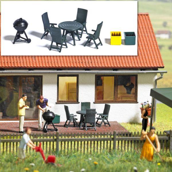 Gartenmöbel & Grill (Gartenparty)