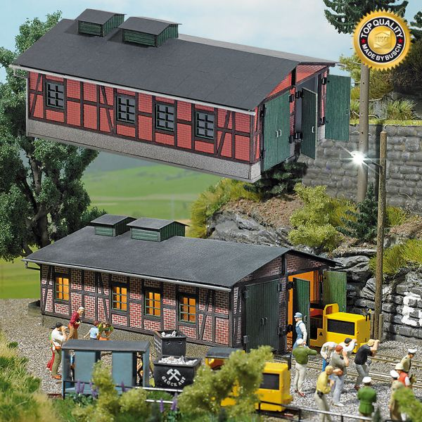 Lokschuppen für Grubenbahnen
