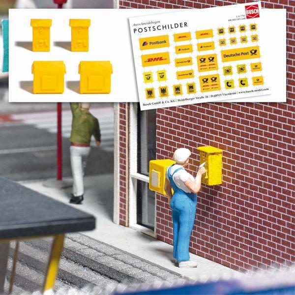 Mini Ausgestaltungs-Set Briefkasten und Briefmarke