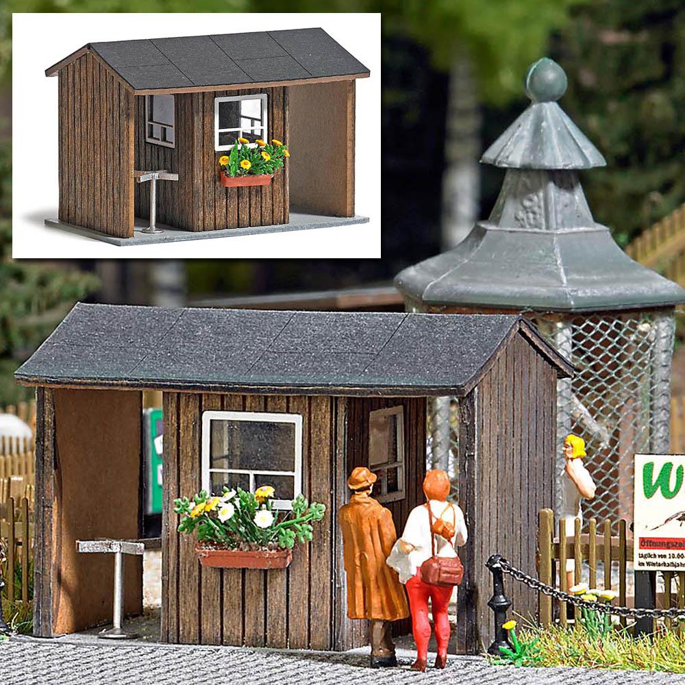 kassenhaus ausgestaltung f r wald park ausgestaltung b ume katalog modellbau busch. Black Bedroom Furniture Sets. Home Design Ideas