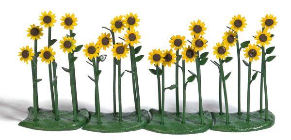 24 Sonnenblumen, fertig montiert