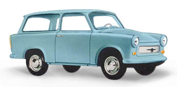 Trabant P601 Universal Kombi, Blau