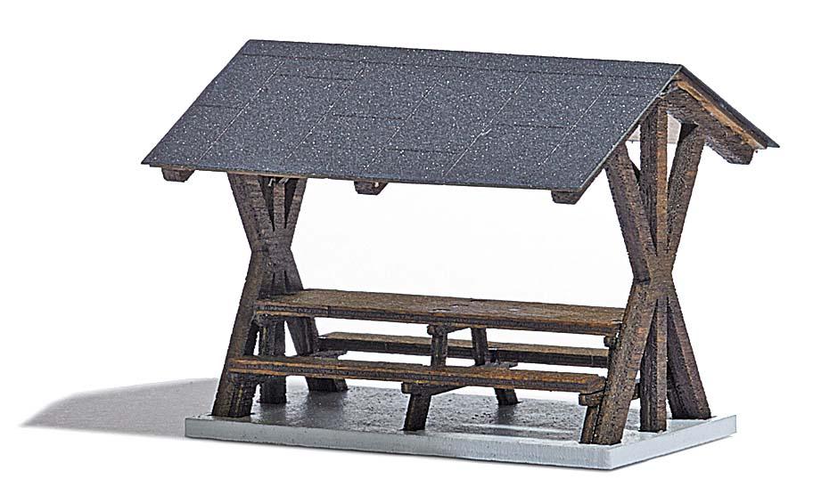 berdachter rastplatz ausgestaltung f r wald park ausgestaltung b ume katalog. Black Bedroom Furniture Sets. Home Design Ideas