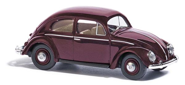 VW Käfer mit Brezelfenster, Rot