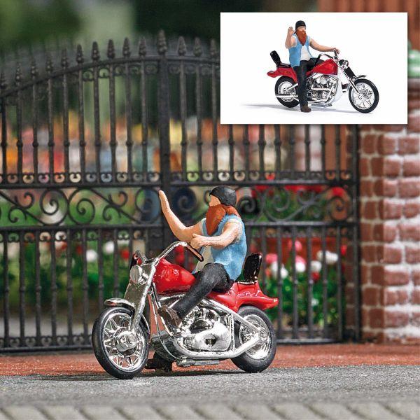 Action Set: US Motorrad mit Biker