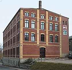 Fabrikgebäude in Schönheide