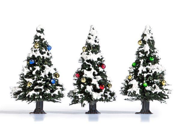3 Verschneite Weihnachtsbäume