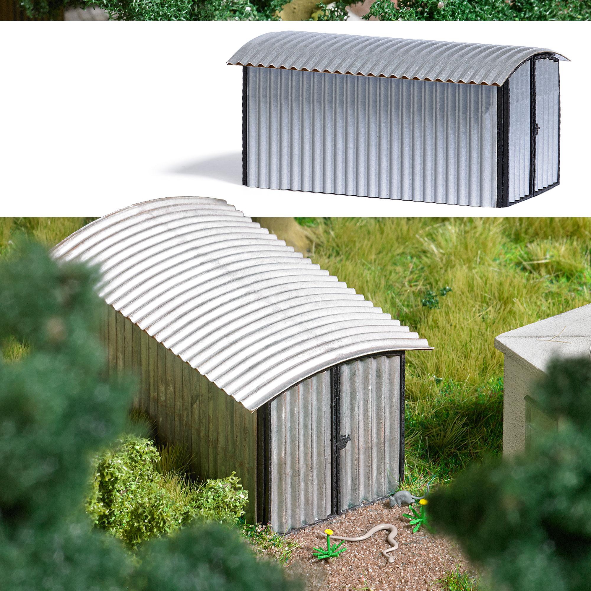 wellblechgarage wohnen freizeit geb udemodelle katalog modellbau busch modellbau. Black Bedroom Furniture Sets. Home Design Ideas