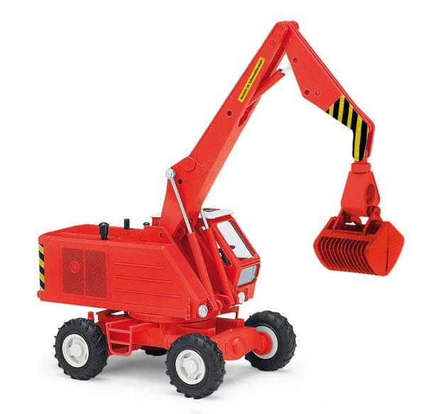 Mobilbagger T174-2 mit Rübengreifer, Rot
