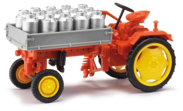 MH: Traktor RS09 Pritsche + Milchkannen