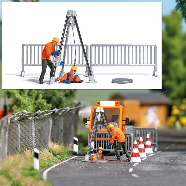 Action-Set: Kanalarbeiter