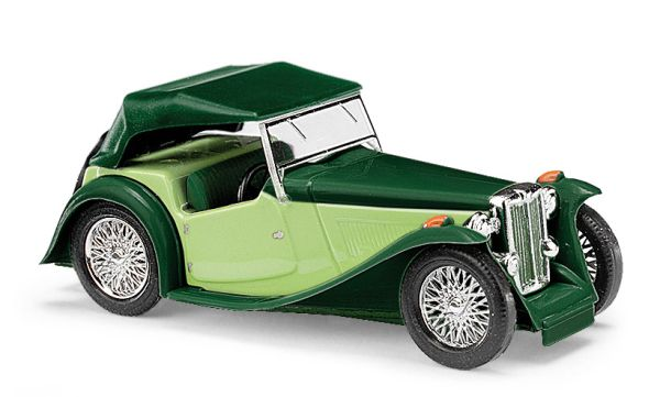 MG Midget TC, Cabrio zweifarbig, Grün