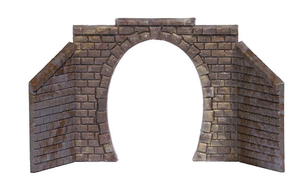 Busch 8191 Zwei E-Lok-Portale eingleisig Tunnel Elokportal Tunnelportal N Neu