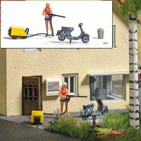 Action-Set: Motorrollerwäsche