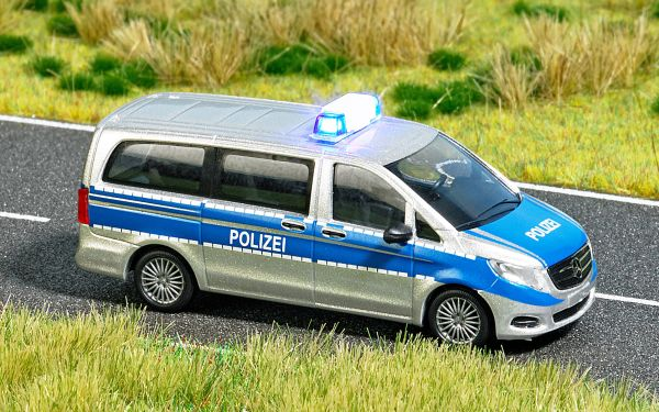 mercedes v klasse polizei automodelle mit elektronik katalog automodelle busch. Black Bedroom Furniture Sets. Home Design Ideas