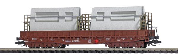 Flachwagen Samm 4818 DR Wohnungsbauplatten