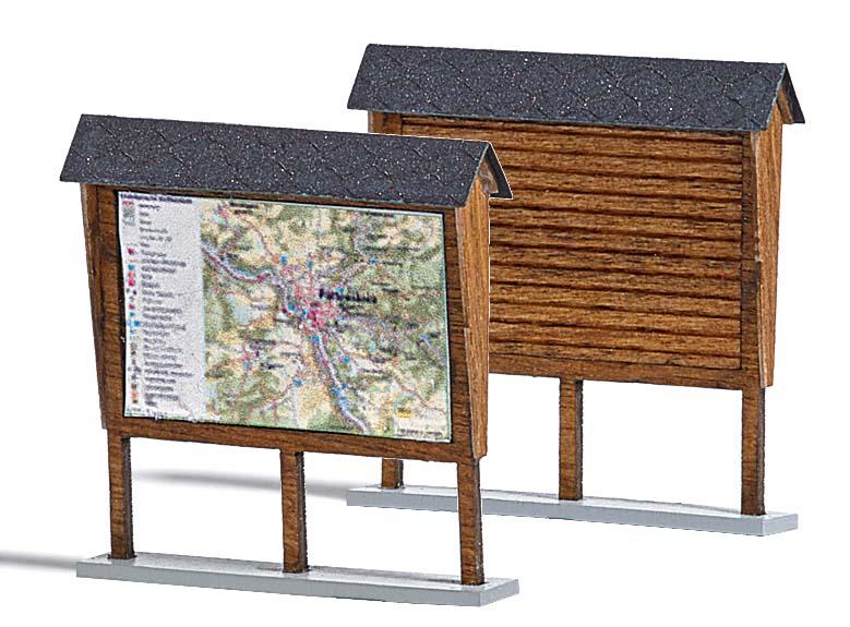zwei anschlagtafeln ausgestaltung f r wald park ausgestaltung b ume katalog modellbau. Black Bedroom Furniture Sets. Home Design Ideas